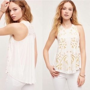 Anthropologie Akemi + Kim Filigree Tank Top